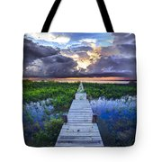 Heavenly Harbor Tote Bag by Debra and Dave Vanderlaan