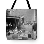 Heavily Armed Feds Seize Liquor Cache 1922 Tote Bag by Daniel Hagerman