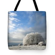 Heavy Frost Tote Bag by Anne Gilbert