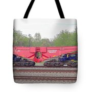 Heavy Lift 1m Pound Capacity Schnabel Railcar By Emmert International Tote Bag