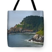 Heceta Head Overlooking The Pacific Ocean Tote Bag