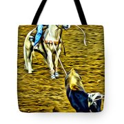 Heeled Steer Tote Bag