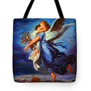 Heiliger Schutzengel  Guardian Angel 7 Oil Tote Bag