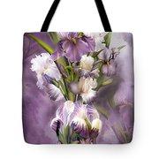 Heirloom Iris In Iris Vase Tote Bag
