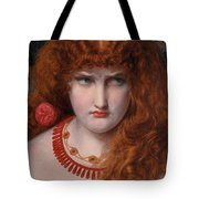 Helen Of Troy Tote Bag by Anthony Frederick Augustus Sandys