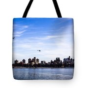 Helicopter Tour Of Nyc Tote Bag