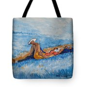 Hello Young Lovers In Blue Tote Bag