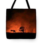 Hells' Horizon Tote Bag
