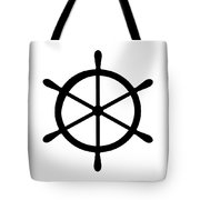 Helm In Black And White Tote Bag