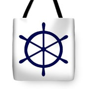 Helm In Navy Blue And White Tote Bag
