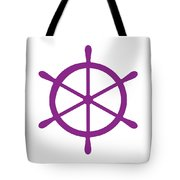 Helm In Purple And White Tote Bag