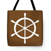 Helm In White And Brown Tote Bag
