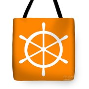Helm In White And Orange Tote Bag