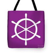 Helm In White And Purple Tote Bag