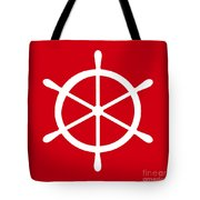 Helm In White And Red Tote Bag