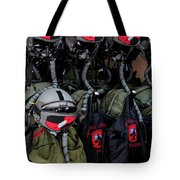 Helmets And Flight Gear Of Hellenic Air Tote Bag