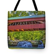 Helmick Mill Or Island Run Covered Bridge  Tote Bag