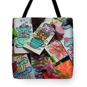 Help Children Read With Book Marks Hand Painted Two Tote Bag