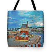Helsingborg Lighthouse Hdr Tote Bag
