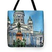 Helsinki Finland Tote Bag by Irina Sztukowski