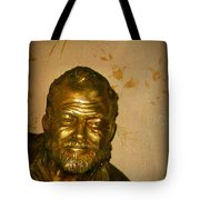 Hemmingway In Havana Tote Bag by John Malone
