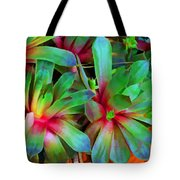 Hen And Chicks  Digital Paint Tote Bag