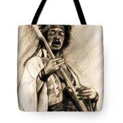 Hendrix-antique Tint Version Tote Bag