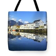 Henningsvaer Harbour Tote Bag