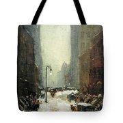 Henri's Snow In New York Tote Bag