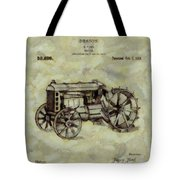Henry Ford Tractor Patent Tote Bag