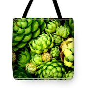 Hens And Chick Plants Tote Bag