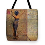 Her Back To The Wall Tote Bag