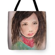 Her Expression Says It All Tote Bag