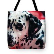 Her Eyes. Portrait Of Dalmation Dog. Kokkie Tote Bag