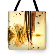 Her Morning Walk Tote Bag by Bob Orsillo