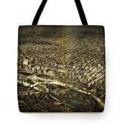 Herancourts Birdseye Of Minneapolis 1885 Tote Bag