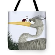 Herb The Heron And His Visitor Tote Bag