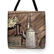 Herbs Bw Tote Bag