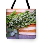 Herbs On Cutting Board Tote Bag