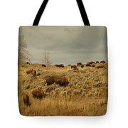 Herd Of Buffalo Tote Bag