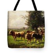 Herd Of Cows Tote Bag