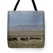 Herd Of Wild Horses Tote Bag by Juli Scalzi