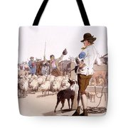 Herdsmen Of Sheep And Cattle, From The Tote Bag