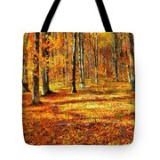 Here Comes Fall Tote Bag