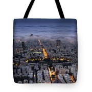 Here Comes The Fog  Tote Bag