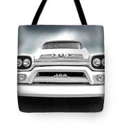 Here Comes The Sun - Gmc 100 Pickup 1958 Black And White Tote Bag