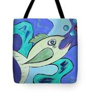Here Fishy Fishy Tote Bag
