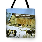 Hereford Barn Painting Tote Bag