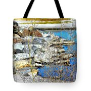 Hereford Inlet Rock Formations Tote Bag
