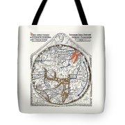 Hereford Mappa Mundi With Detail Upszed  Tote Bag